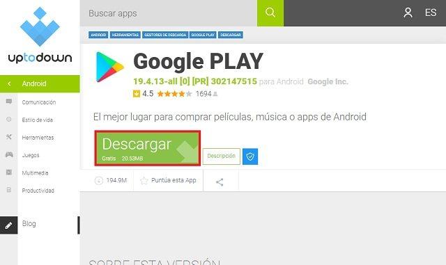 Paso 2 Play Store